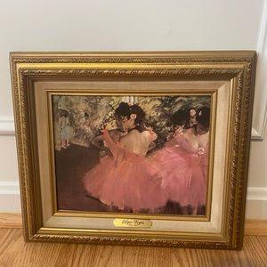 Degas ballerina art canvas